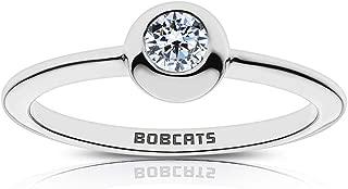 Bixler Texas State University Diamond Ring in Sterling Silver Design
