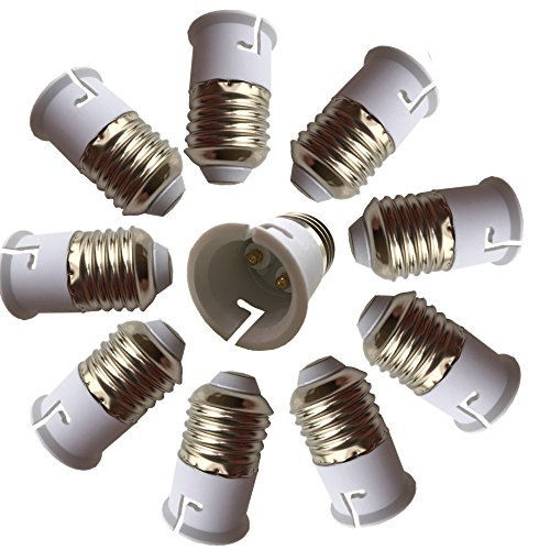 Eleidgs 10 PCS E27 vers B22 Adaptateur de Douille , Ampoule LED Base Douille E26 à B22 Lamp Holder Converter