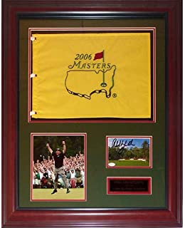 Phil Mickelson Autographed Signed Auto 3-Time Masters Champion Deluxe Framed Flag Piece - Certified Authentic