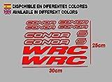 Ecoshirt LA-0ZHC-61OL Pegatinas Connor WRC F120 Vinilo Adesivi Decal Aufkleber Клей MTB Stickers Bike, Rojo