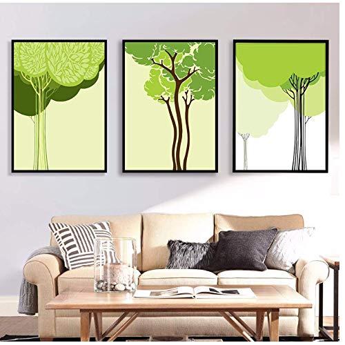 Paysages Plantes vertes série Peintures sur toiles et affiches Décors de qualité pour le salon 50x70 cm No Frame