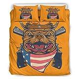YxueSond - Juego de cama para perro (3 piezas), poliéster, Blanco, 66x90 inch