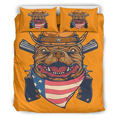 YxueSond - Juego de cama para perro (3 piezas), poliéster, Blanco, 90x90 inch