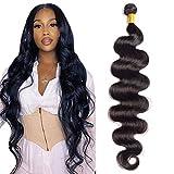 Maxine Brazilian Long Body Wave Virgin Human Hair 1Bundle 26 Inch 100% Unprocessed Hair Weave Bundles Extensions Deals 10a Natural Color