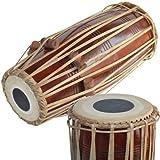 Mridangam de madera maciza hecha a mano, color marrón indio del norte, un instrumento musical