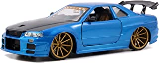 Jada 2002 Nissan Skyline GT-R (BNR34) 1:24 Scale (Blue)