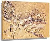 DPZAFL Laminas para Cuadros Famoso Alfred Sisley Early Snow en Louveciennes Impresionismo Paisaje Urbano Vintage Poster Art Prints Decoracion de Pared 40x60cm x1 Sin Marco