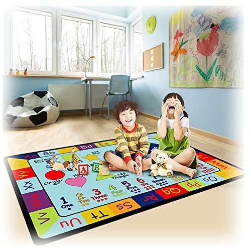 LXHONG KidsChilds Teppich Formfarbenerkennung Denkfähigkeiten Entwickeln Sanft Wasser Aufnehmen Spielteppich Vorschule Mehrere Größen (Color : Multi-Colored, Size : 1.2x4m)