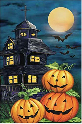 Giftwrap Etc Haunted House Halloween Garden Flag 12 X 18 Double Sided Bats Pumpkins Black Blue And Orange Halloween Decorations Buy Online In Gibraltar At Gibraltar Desertcart Com Productid 106116161