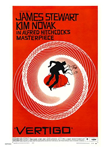 onthewall Vertigo Alfred hitchcok Film Film 30x 40cm Poster Kunstdruck