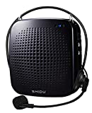 SHIDU Voice Amplifier Wired Headset Microphone and Speaker,Waistband, 15W Rechargwable PA System Supports MP3 Format Audio for Teachers,Singing,Coaches,Training,Presentation,Tour Guide,Fitness (S511)