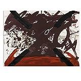 Arte de pared abstracto ANTONI TAPIES-Ohne Titel Pintura para sala de estar Decoración del hogar Pintura sobre lienzo Pintura de pared -70x100 cm x1 Sin marco
