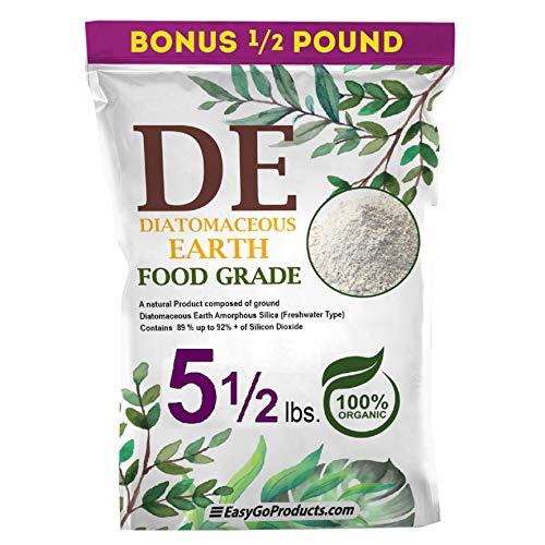 EasyGoProducts Diatomaceous Earth - 100% Natural Food Grade - DE Fresh Water – 5.5 Pounds, (Model: EGP-DE-05)