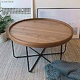 ZXMDP Mesa Salon elevable y Extensible menzzo Sofa Centro Blanca Lack de Brillo pequeña Palet...