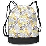 shenguang Kordelzug Rucksäcke Taschen, weich getönten exotischen Ananas Figuren tropische Diät Lebensmittel künstlerische Illustration, verstellbar