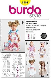 Burda Schnittmuster 8308 – Puppe Kleidung & Accessoires