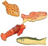 alles-meine.de GmbH 3 Stück _ Fisch & Meerestiere - Miniaturen aus Kunstharz / Maßstab 1:12 - Lebensmittel - Zubehör - Diorama Küche Puppenstube / Puppenhaus - Krabbe - Krebs - F.. -