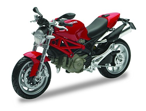 New Ray 44023, Ducati Monster 1100 - Moto a escala 1:12, Colores aleatorios, 1 Pieza , color/modelo surtido