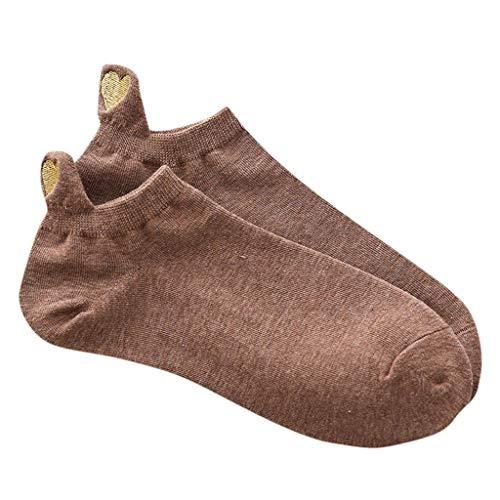 Fineday Women Casual Fashion Irregular Heart Cotton Socks Sport Short Sock, Socks, Clothing Shoes & Accessories (Coffee)