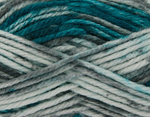King Cole Big Value Super Chunky Tints - extra Dickes Garn mit fröhlichem Farbverlauf Big Value Super Chunky Tints Farbtöne Peacock 2046