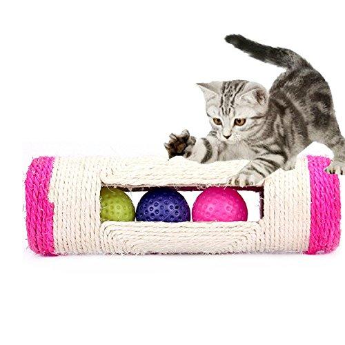 JuLun 1 PC Cat Scratch Spielzeug, Katze Rollbälle, Katzenkratzbrett (zufällige farbe)