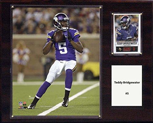 C & I Collectables NFL Minnesota Vikings Teddy Bridgewater Spieler-Plakette, 30,5 x 38,1 cm
