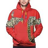 QLCDFAQQKN Run The Jewels Man's Hoodies Fashion Long Sleeve Pocket Hooded Sweatshirts Black L