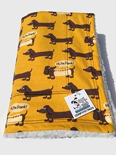 Hi I'm Frank Dachshund Blanket Travel Bedding for Dogs Size 39 Inches x 29 Inches