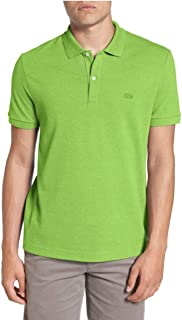 Men's Regular Fit Short Sleeve Pique Polo Shirt with Tonal Croc Logo