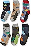 Jefferies Socks Jungen Fun Assorted Animals Pattern Cotton Crew 6 Pair Pack Socken, Mehrfarbig, Small (6er