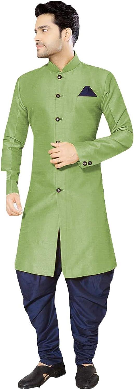daindiashop-USA Exclusive Indian Men Sherwani Partywear Jodhpuri Suit Bhandgala Jacket Mehandi Prom Indo ICW3011-6