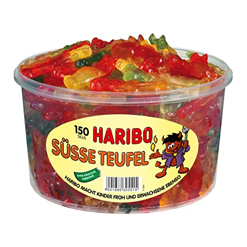 Haribo Süße Teufel, 1er Pack (1 x 1.2 kg Dose)
