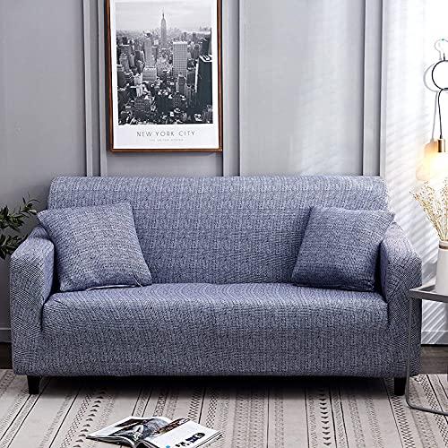 Fundas para sofá Funda para sofá, universal, de alta elasticidad, antideslizante, para sofá, moda, azul, impresa, todo incluido, funda para sofá, protector de muebles para sillón, decoración del