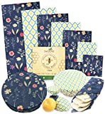 SWOOFE Reusable Beeswax Food Wrap (7 PACK), Zero Waste, Beeswax Wraps, Eco Friendly, Organic, Sustainable Products, Beeswax Wrap Food Storage, Bees Wrappers Cling Sandwich, Alternative To Plastic Bags