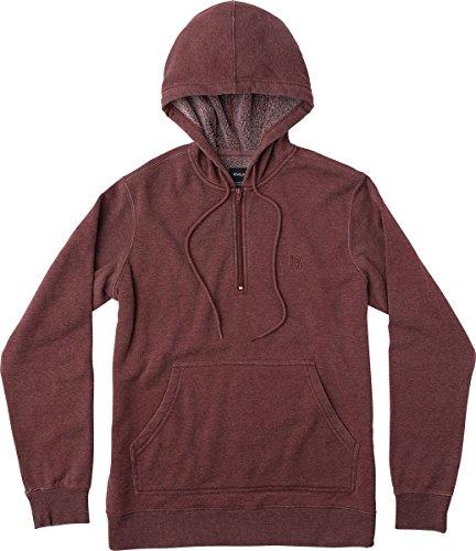 RVCA Men's Sunwash Pullover Hoodie Tawny Port X-Large