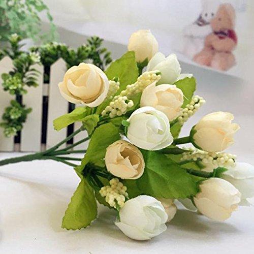 15 Heads Künstlicher Seiden-Blumenstrauß Bridal Bouquet für Hochzeit,Party,Braut, Büro Dekor Home Decor