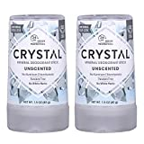 CRYSTAL Travel Stick Mineral Deodorant - Unscented Body Deodorant With 24-Hour Odor Protection,...