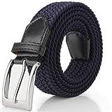 Fairwin Cinturón Elástico Trenzado Para Hombres y Mujeres, Unisex Casual Tejido Cinturon Trenzado,Cinturones Elásticos Tejidos para Jeans
