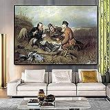 Decoración de la sala de estar de Hunter pintura arte de la pared póster y póster pintura al óleo decoración del hogar40x60cm sin marco