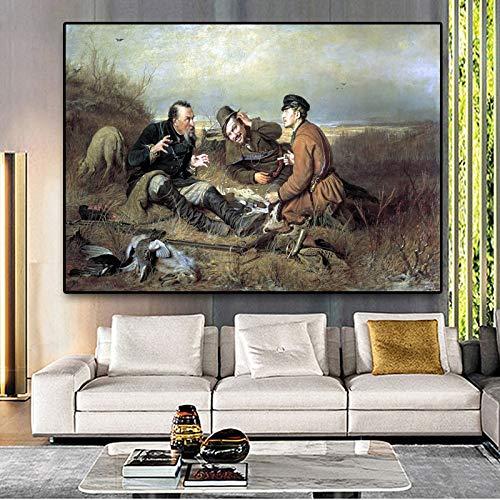SADHAF Hunter Posters en olieverfschilderijen op doek voor moderne muurkunst Art Design Decoratie 50x70cm (no frame) A3