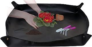 "Rongyi Plant Repotting Mat 39""x39"" Waterproof Outdoor Doormats Transplanting Mat Indoor Succulent Potting Tarp Mat Foldabl..."