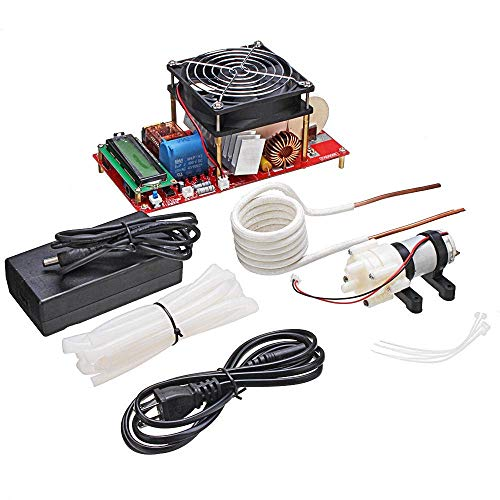 JUNYYANG 2000W ZVS Induction Heating Module Board Flback Driver Heater Good Heat Dissipation With Coil Pump Power Adapter Kit Woodworking Tools Capacitive Touch