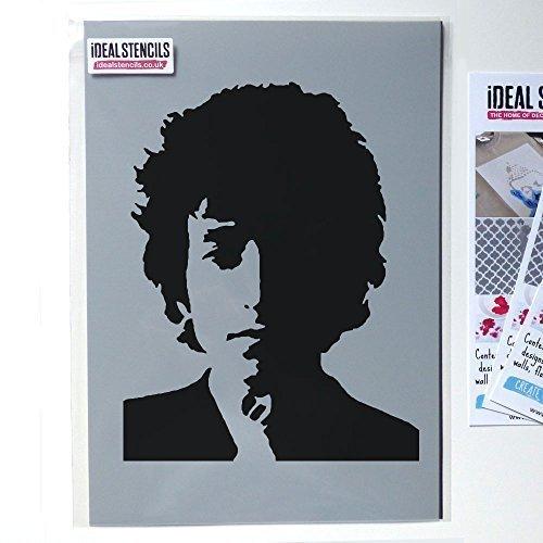 Ideal Stencils Bob Dylan Schablone, Ikone Bild Schablone, Hausdekoration Schablone, Wandkunst Malen, Kunst Handwerk, Viele Größen, Ltd - S/17X22CM