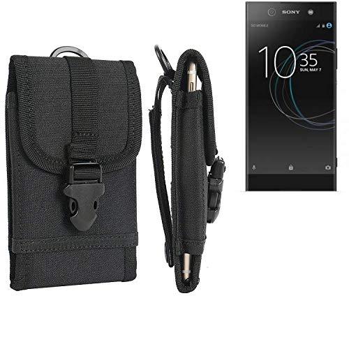 K-S-Trade® Handyhülle Für Sony Xperia XA1 Ultra Dual Gürteltasche Holster Handytasche Gürtel Tasche Schutzhülle Robuste Handy Schutz Hülle Tasche Outdoor Schwarz