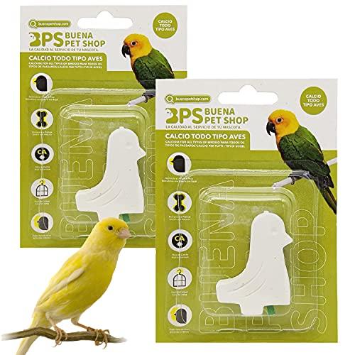 BPS 2 Pcs Bloque de Calcio para Pájaros Aves Natural Complemento Básico BPS-4129 * 2