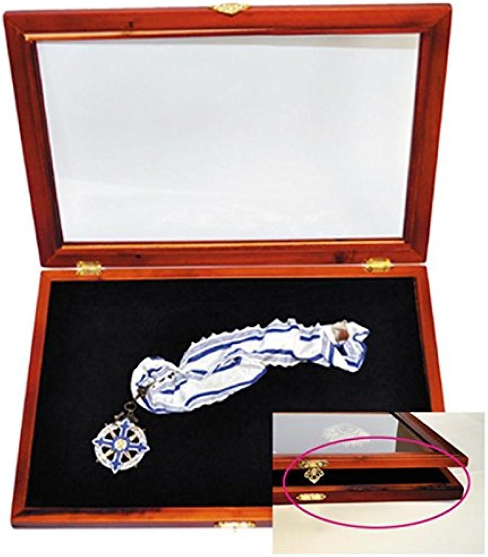 Hndlerpaket - 5x Sonderotition Vitrine Rustikal - Holz-Vitrine-Rustikal für Pins, Orden, Ehrenzeichen, Anstecknadeln mit Echtglas