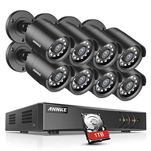 ANNKE 1080P CCTV Camera System, 8CH H.264+ Security DVR, 1TB...
