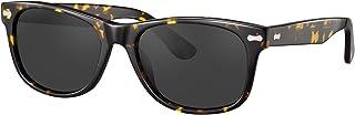 TSEBAN Retro polariserade solglasögon för kvinnor och män, UV 400 körning utomhus skyddsglasögon med acetatram