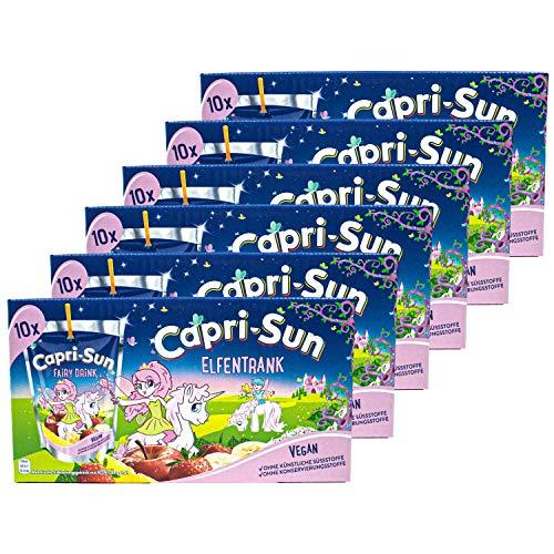 Capri-Sun - 6er Pack Capri Sonne Elfentrank Fairy Drink - Caprisonne Vorteilspack (10 x 0.2 Liter) perfekt für Unterwegs - Magischer Geschmack aus Banane, Apfel, Zitrone und Erdbeere