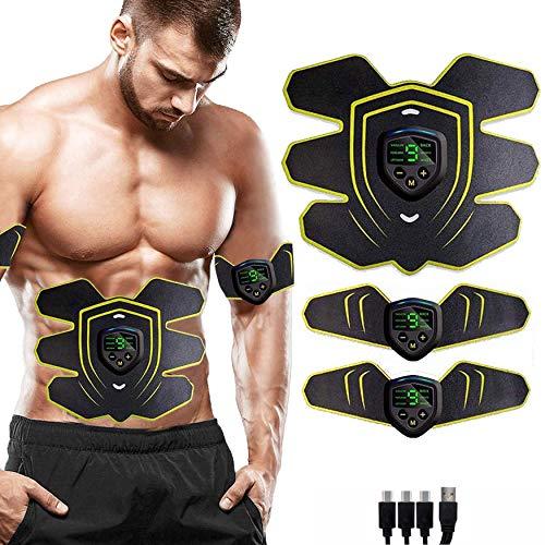 ZHENROG Electroestimulador Muscular Abdominales Cinturón, USB Recargable EMS Estimulador Muscular Abdominales, para Abdomen/Cintura/Gluteos/Pierna/Brazo